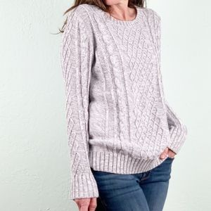 Old Navy | Super Soft Cable Knit Sweater Grey